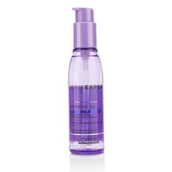 欧莱雅  Professionnel Serie Expert - Liss Unlimited Primrose Oil Shine Perfecting Blow-Dry Oil  125ml/4.2oz