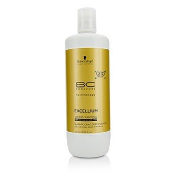 Schwarzkopf BC Excellium Q10+ Omega 3 Taming Shampoo (For Coarse Mature Hair)  1000ml/33.8oz