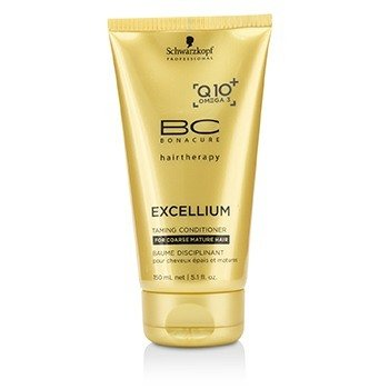 Schwarzkopf BC Excellium Q10+ Omega 3 Taming Conditioner (For Coarse Mature Hair)  150ml/5.1oz
