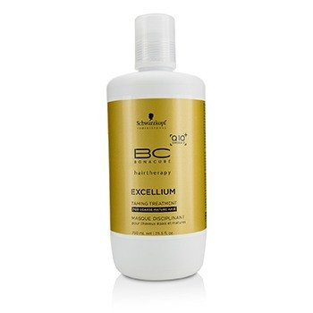 Schwarzkopf Kuracja do włosów BC Excellium Q10+ Omega 3 Taming Treatment (For Coarse Mature Hair)  750ml/25.5oz