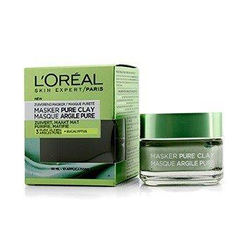 L'Oreal ماسك طيني Skin Expert Pure - ينقي ويطفئ اللمعان  50ml/1.7oz
