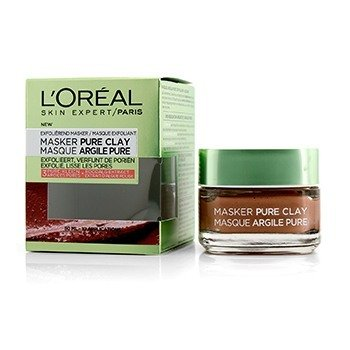 L'Oreal Skin Expert Pure Clay Mask - Exfoliate & Refine Pores  50ml/1.7oz