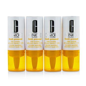 Clinique Fresh Pressed Impulsador Diario con Vitamina C Pura 10% - Para Todo Tipo de Piel  4x8.5ml/0.29oz