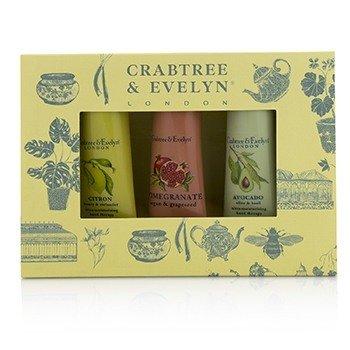 Crabtree & Evelyn Set Botanicals Terapia de Manos (1x Citron, Honey & Coriander, 1x Pomegranate, Argan & Grapeseed, 1x Avocado, Olive & Basil)  3x25g/0.9oz