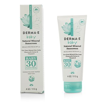Derma E Natural Mineral Sunscreen Broad Spectrum SPF 30 - Baby  113g/4oz