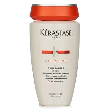 卡诗  Nutritive Bain Satin 2 Exceptional Nutrition Shampoo (For Dry, Sensitised Hair)  250ml/8.5oz