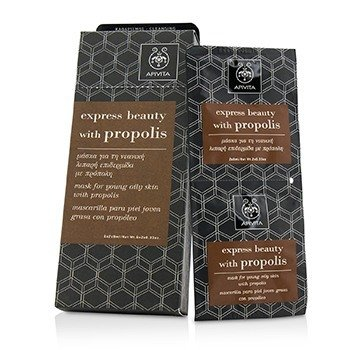 Apivita Express Beauty Mask For Young Oily Skin with Propolis (Box Slightly Damaged)  6x(2x8ml)