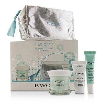 Payot Hydra 24+ Coffret: 1x Plumpling Moisturizing Care 50ml, 1x Moisturing Reviving Eyes Roll On 15ml, 1x Comforting Mask 15ml, 1x Bag  3pcs + 1 Bag
