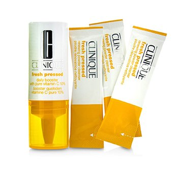 Clinique Fresh Pressed 7-Day System with Pure Vitamin C (1x Daily Booster 8.5ml + 7x Renewing Powder Cleanser 0.5g)  -