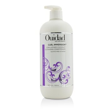 Ouidad Curl Immersion Low-Lather Coconut Cleansing Conditioner (Kinky Curls)  500ml/16oz