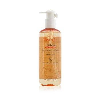 Avene TriXera Nutrition Nutri-Fluid Face & Body Cleanser - For Dry to Very Dry Sensitive Skin  400ml/13.5oz