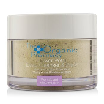 The Organic Pharmacy Flower Petal Deep Cleanser & Mask - For Radiant Glowing Skin  60g/2.14oz