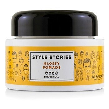 AlfaParf Style Stories Glossy Pomade (Strong Hold)  100ml/3.66oz
