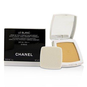 ชาแนล Le Blanc Whitening Compact Foundation SPF 25 - # 30 Beige  12g/0.42oz