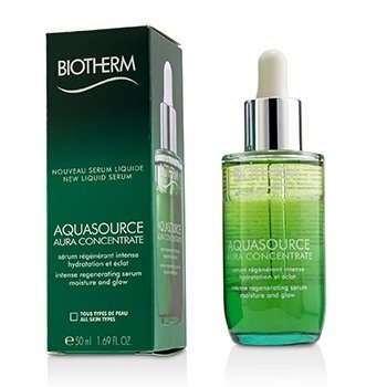 Biotherm Aquasource Aura Concentrate Intense Regenerating Serum - Suitable For Sensitive Skin  50ml/1.69oz