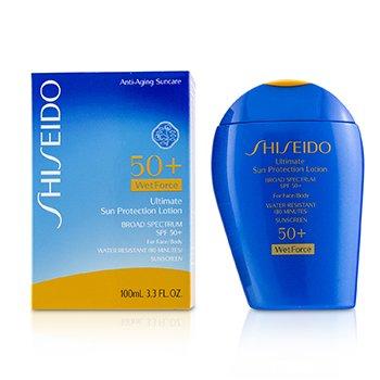 Shiseido Ultimate Sun Protection Lotion WetForce For Face & Body SPF 50+  100ml/3.3oz