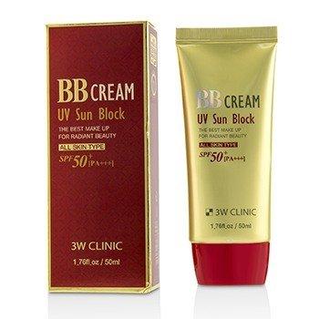 3W Clinic UV Sun Block BB Cream SPF50+ PA+++  50ml/1.76oz