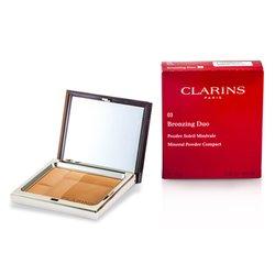 Clarins Bronzing Duo Mineral Powder Compact SPF 15 - 03 Dark  10g/0.35oz
