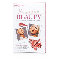 ModelCo Essential Beauty ( 1х Пудра Руж за Скули, 1х Гланц за Устни за Ултра Блясък ) - Amaretto Sunset  2pcs