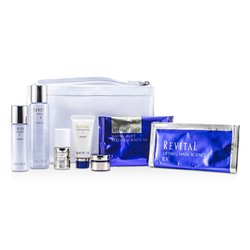 Shiseido Revital Set: Cleansing Foam 20g + Lotion EX II 75ml + Serum 10ml + Moisturizer EX II 30ml + Cream 7ml + Eye Mask + Mask + Bag  7pcs+1bag