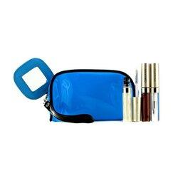 Kanebo Set de Brillo de Labios Con Bolso Cosmético Azúl (3x Mode Brillo, 1x Bolso Cosmético)  3pcs+1bag