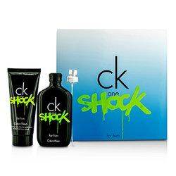 Calvin Klein CK One Shock For Him Coffret: Eau De Toilette Spray 100ml/3.4oz + After Shave Balm 100ml/3.4oz  2pcs