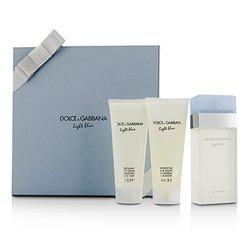Dolce & Gabbana Zestaw Light Blue Gift Coffret: Eau De Toilette Spray 100ml/3.3oz + Body Cream 100ml/3.3oz + Bath & Shower Gel 100ml/3.3oz  3pcs