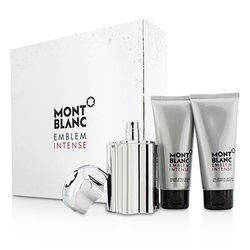 Montblanc Emblem Intense Coffret: Eau De Toilette Spray 100ml/3.3oz + Shower Gel 100ml/3.3oz + After Shave Balm 100ml/3.3oz  3pcs