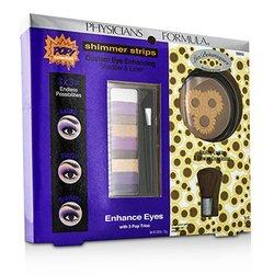 Physicians Formula Makeup Set 8660: 1x Shimmer Strips Eye Enhancing Shadow, 1x bontanički bronzer, 1x aplikator  3pcs