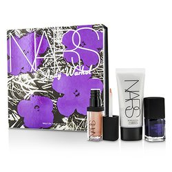 NARS Andy Warhol Walk On The Wild Side Комплект (1x Мини Озаряващо Средство, 1x Мини Лак за Нокти, 1x Мини Гланц за Устни)  3pcs