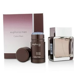 Calvin Klein Euphoria Coffret: Eau De Toilette Spray 100ml/3.4oz + Desodorante en Barra 75g/2.6oz  2pcs