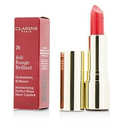 Clarins Joli Rouge Brillant (Moisturizing Perfect Shine Sheer Lipstick) - # 26 Hibiscus  3.5g/0.1oz