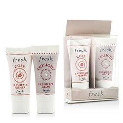 Fresh Set Prime & Brillo Dúo Pack : 1x Mini Rose Freshface Primer, 1x Mini Twilight Freshface Brillo  2 Sets