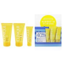 Clinique Summer In Clinique Coffret: Face Cream SPF 40 50ml+ Face/Body Cream SPF 15 150ml + After Sun Rescue Balm With Aloe 150ml  4pcs