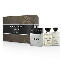 Bvlgari Man Extreme Coffret: Eau De Toilette Spray 60ml/2oz + After Shave Balm 40ml/1.35oz + Shower Gel 40ml/1.35oz  3pcs