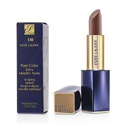 Estee Lauder Pure Color Envy Metallic Matte Sculpting Lipstick - # 130 Brushed Bronze  3.5g/0.12oz