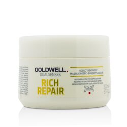 Goldwell Dual Senses Rich Repair 60Sec Treatment (Regeneration For Damaged Hair)  200ml/6.7oz