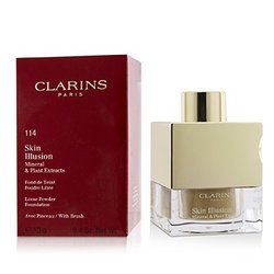 Clarins Skin Illusion Mineral & Plant Extracts Loose Powder Foundation (With Brush) (New Packaging) - # 114 Cappuccino  13g/0.4oz