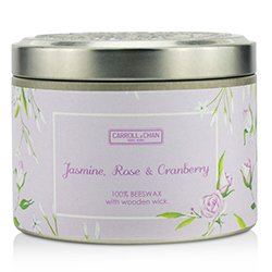 蠟燭世家  錫罐100%蜂蠟木芯蠟燭 - Jasmine, Rose & Cranberry  (8x5) cm