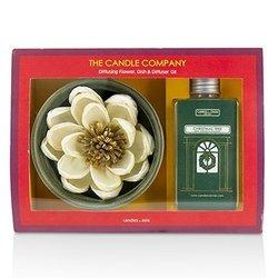 The Candle Company 聖誕樹擴香花套裝:擴香花+盤子+擴香油100ml  3件