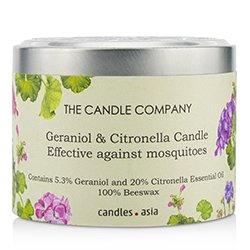 蠟燭世家  錫罐100%蜂蠟木芯蠟燭 - Geraniol & Citronella  (8x5) cm