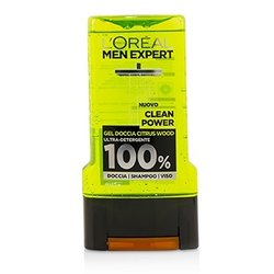 L'Oreal Men Expert Shower Gel - Clean Power (For Body, Face & Hair)  300ml/10.1oz