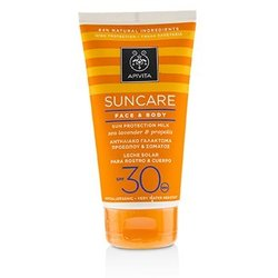 Apivita Suncare Face & Body Sun Protection Milk SPF 30 With Sea Lavender & Propolis  150ml/5oz
