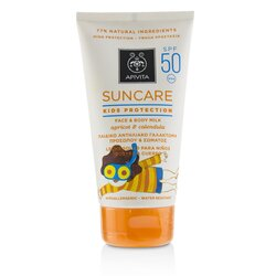 Apivita Suncare Kids Protection Face & Body Milk SPF 50 With Apricot & Calendula  150ml/5oz
