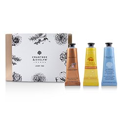 Crabtree & Evelyn Luxury Hand Therapy Trio (1x Citron & Coriander, 1x Gardeners, 1x La Source)  3x25ml/0.86oz