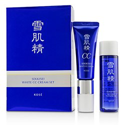Kose Sekkisei White CC Cream Set: Sekkisei White CC Cream SPF50+ PA++++ -  # 02 Ochre 26ml/1oz + Sekkisei Treatment Cleansing Oil 35ml/1.1oz  2pcs