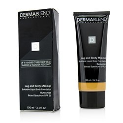 Dermablend Leg and Body Make Up Buildable Liquid Body Foundation Sunscreen Broad Spectrum SPF 25 - Medium Golden 40W (Exp. Date 10/2018)  100ml/3.4oz