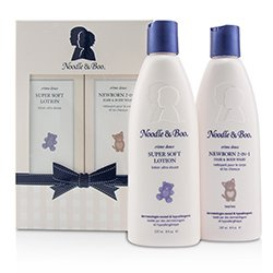 Noodle & Boo Newborn Gift Set: Newborn 2-in-1 Hair & Body Wash 237ml/8oz + Super Soft Lotion - For Face & Body 237ml/8oz  2pc