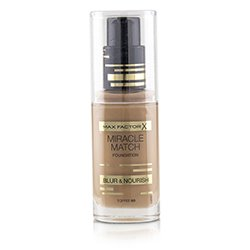 Max Factor Miracle Match Foundation Blur & Nourish - # 90 Toffee  30ml/1oz