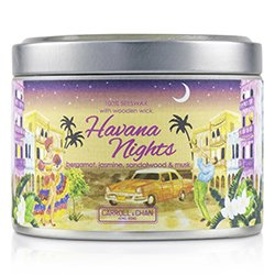 The Candle Company Tin Can 100% Beeswax Candle with Wooden Wick - Havana Nights  (8x5) cm